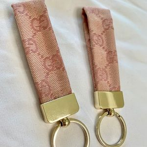 Keychain with Pink Gucci Canvas